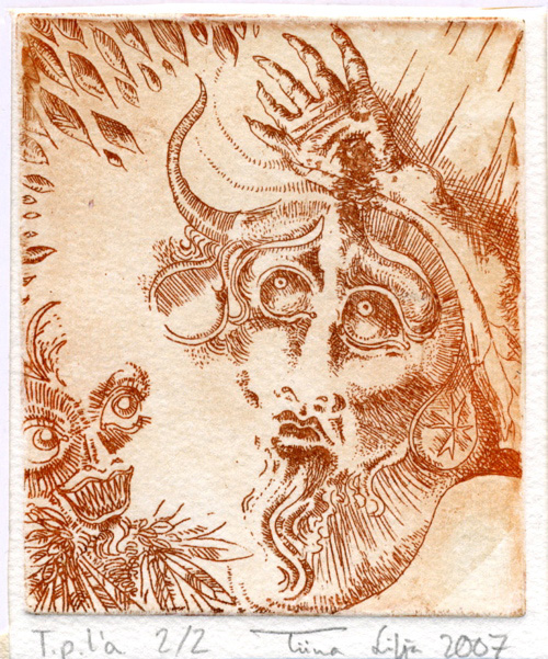 Super Satan etching