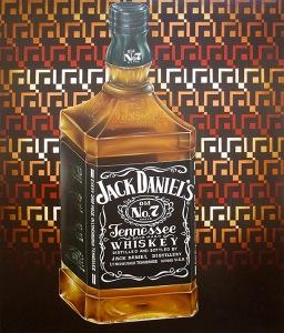 """""""Jack Daniel's"""" by Tiina Lilja (2014) oil on canvas (100x120cm)"""