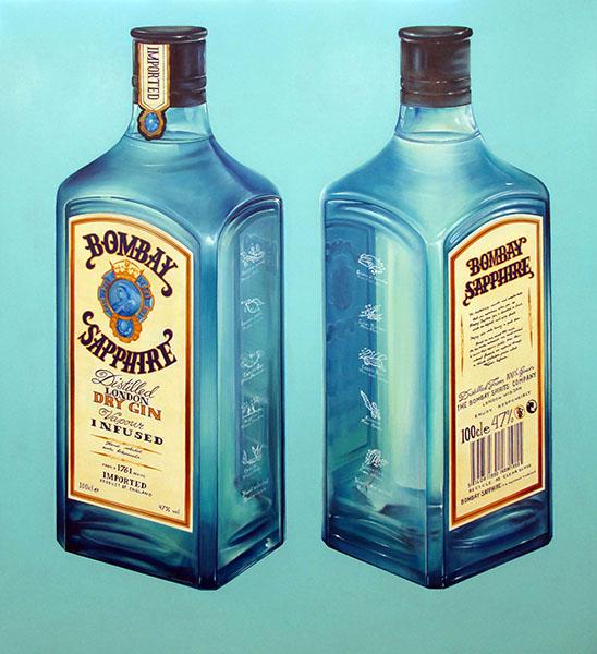 """Bombay Sapphire"" by Tiina Lilja (2014) oil on canvas (110x120cm)"