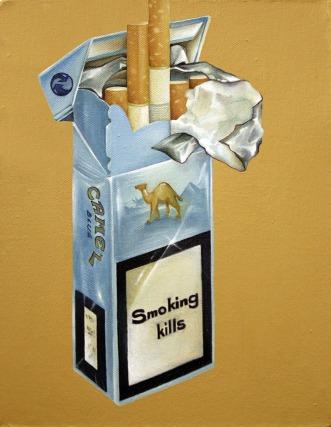 """Camel Blue"" by Tiina Lilja (2013) oil on canvas (21x29cm)"