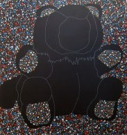 """Constellation of the Bear"" by Tiina Lilja (2012) acrylic on canvas (110x120cm)"