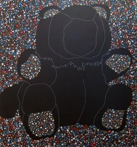 """Constellation of the Bear"" by Tiina Lilja (2012) acrylic on canvas (110x120cm)"