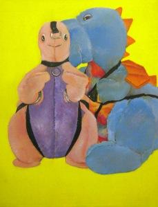 """""""Dinos"""" by Tiina Lilja (2013) oil on canvas"""