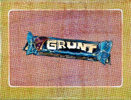 """Grunt Boost"" by Tiina Lilja (2015) mixed media on canvas (21x29cm)"