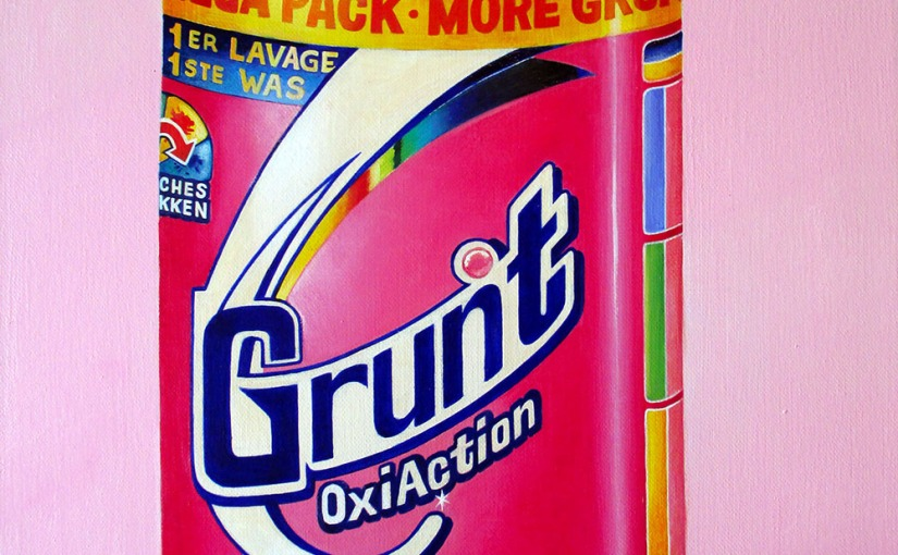 """Grunt Oxi Action"" by Tiina Lilja (2014) oil on canvas (40x50cm)"
