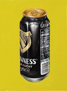 """""""Guinness Trinitas Vol I"""" by Tiina Lilja (2014) oil on canvas (21x29cm)"""