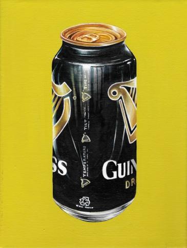 """Guinness Trinitas Vol II"" by Tiina Lilja (2014) oil on canvas (21x29cm)"