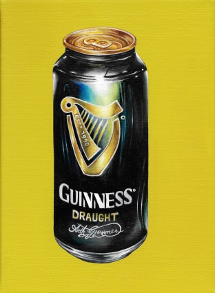 """Guinness Trinitas Vol III"" by Tiina Lilja (2014) oil on canvas (21x29cm)"