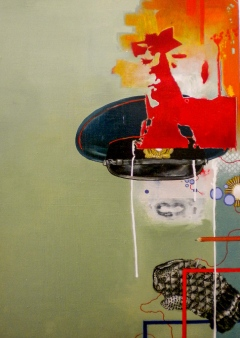 """Neuvostot"" by Tiina Lilja (2011) acrylic on canvas (50x70cm)"