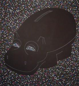 """Henri"" by Tiina Lilja (2012) acrylic on canvas (110x120cm)"