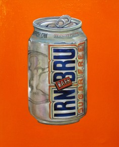 """IRN BRU"" by Tiina Lilja (2014) oil on canvas (21x29cm)"