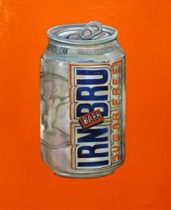 """""""IRN BRU"""" by Tiina Lilja (2014) oil on canvas (21x29cm)"""