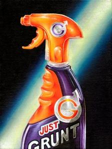 """Just Grunt"" by Tiina Lilja (2014) oil on canvas (21x29cm)"