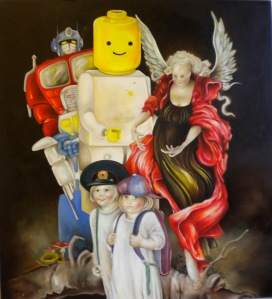 """Bygone"" by Tiina Lilja (2011) oil on canvas (120x110cm)"