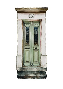 """Les Portes de Mazamet"" by Tiina Lilja (2017) watercolour on paper (21x29cm)"