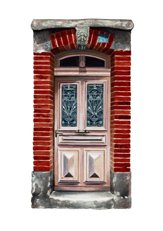"""Les Portes de Mazamet"" by Tiina Lilja (2017) watercolour on paper (21x29cm)"