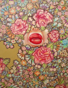 """Lust"" by Tiina Lilja (2014) mixed media on canvas (21x29cm)"