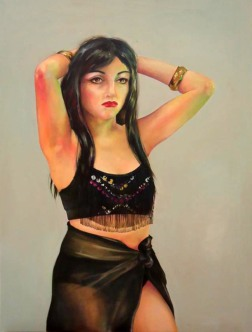 """Orion Slave Girl"" by Tiina Lilja (2013) acrylic on canvas (70x90cm)"