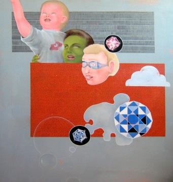 """The Star of Africa"" by Tiina Lilja (2012) acrylic on canvas (90x95cm)"