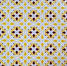 """untitled"" (pattern) by Tiina Lilja (2016) acrylic on canvas (90x90cm)"