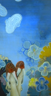 """untitled"" by Tiina Lilja (2012) acrylic on canvas (50x90cm)"