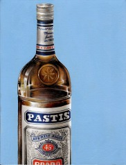 """Prado Pastis de Marseille"" by Tiina Lilja (2014) oil on canvas (21x29cm)"