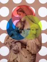 """RBG Trinitas"" by Tiina Lilja (2016) mixed media on canvas (50x65cm)"