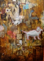 """So Far"" by Tiina Lilja (2010) mixed media (90x70cm)"