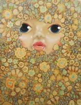 """The Mask"" by Tiina Lilja (2014) mixed media on canvas (21x29cm)"
