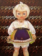 """Untitled Doll"" by Tiina Lilja (2014) oil on canvas (21x29cm)"
