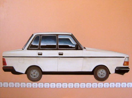 """Volvo"" by Tiina Lilja (2012) oil on canvas (90x120cm)"