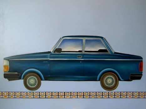 """Volvo Turbo"" by Tiina Lilja (2012) oil on canvas (90x120cm)"