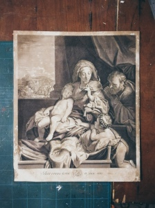"""Lithograph of """"The Silence"""" by Nicolas de Poilly"""