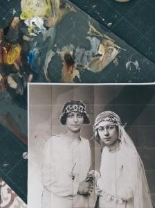 Two Brides - work in progress by Tiina Lilja