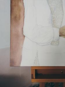 Two Brides by Tiina Lilja - work in progress, detail