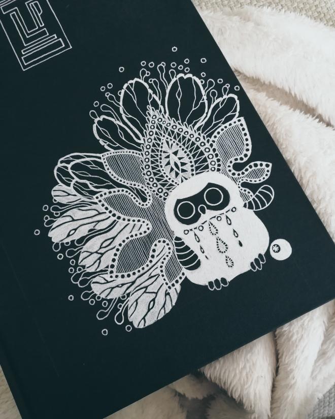 sketchbook number 23 by Tiina Lilja - cover art in progress
