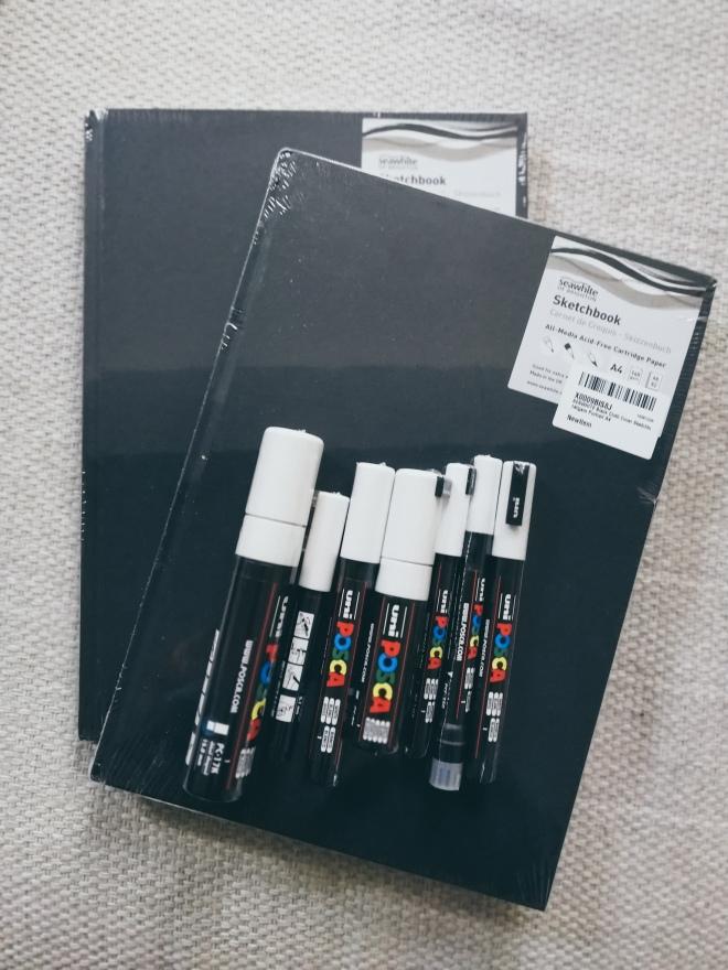 seawhite of brighton sketchbooks and posca markers