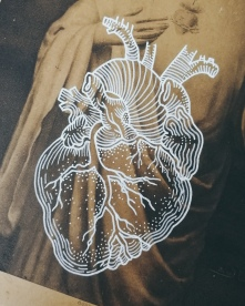 Corpus Christi by Tiina Lilja - work in progress, detail of the human heart