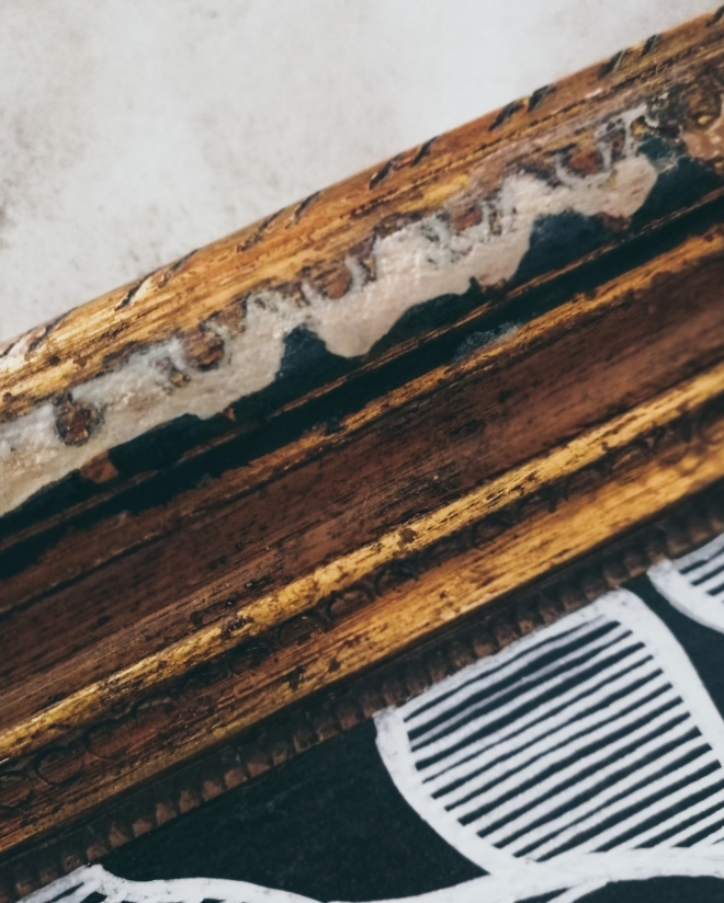 repairing a damaged frame with filler