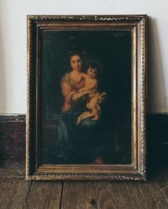 Lilium Candidum painting by Tiina Lilja - before the repaint