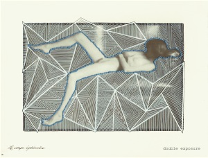 """Double Exposure"" by Tiina Lilja mixed media on paper 2019"