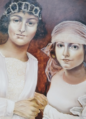 Two Brides, work in progress by Tiina Lilja
