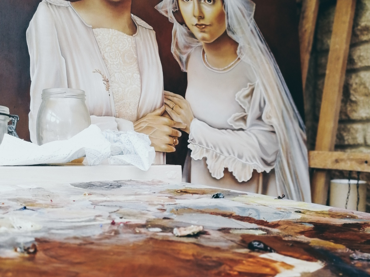 Two Brides by Tiina Lilja - work in progress