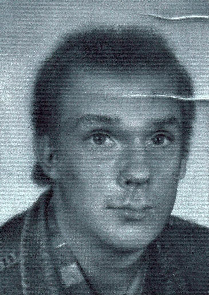 """1986"" (Juha), by Tiina Lilja (2020), oil on board"