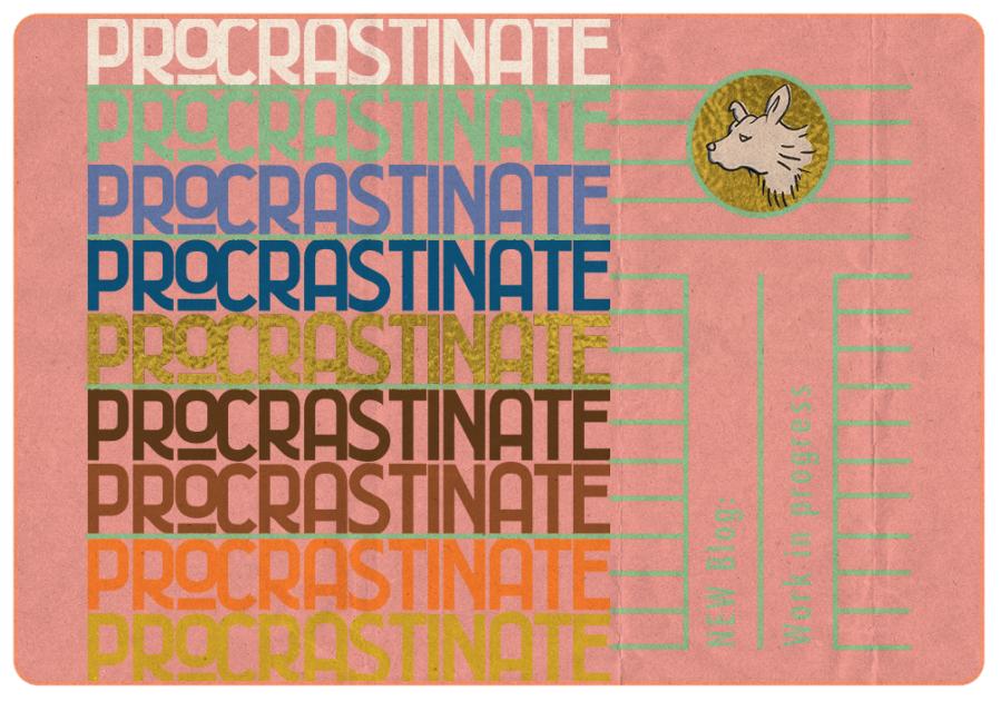 procrastinate blog tittle