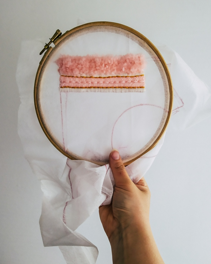 Embroidery in progress - Mix of different stitches