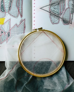 Embroidery in progress - the beginning