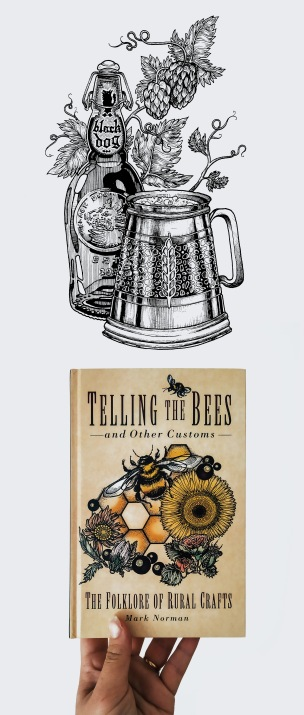 "Tiina Lilja's illustration for ""Telling the Bees and Other Customs"" by Mark Norman, published by the History Press."